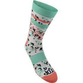 inov-8 F-Lite Crew Socks, coral/green